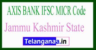 AXIS BANK IFSC MICR Code Jammu Kashmir State