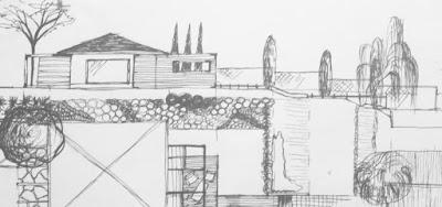 schita gradina, desen gradina, plan amenajare curte, proiect peisagist