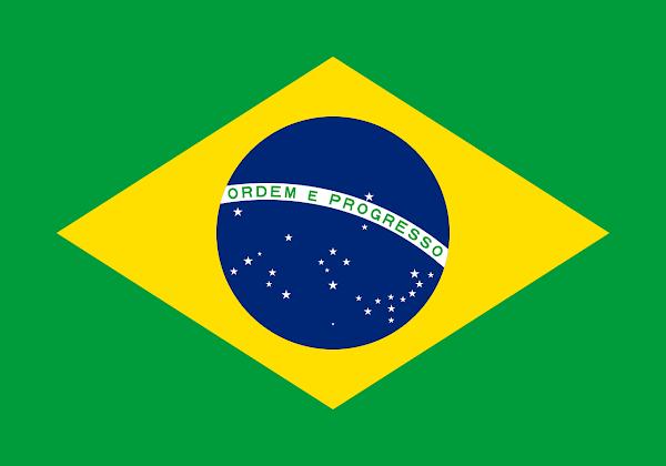 Logo Gambar Bendera Negara Brasil PNG JPG ukuran 600 px