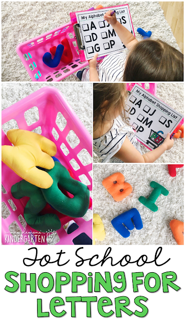 Learning is more fun when it involves movement! Learn letters and sounds with this Chicka Chicka Boom Boom inspired Shopping for Letters aactivity. Great for tot school, preschool, or even kindergarten!