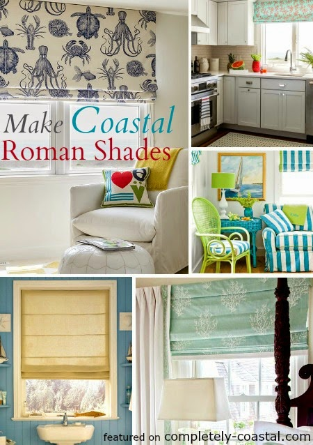 Make Coastal Roman Shades