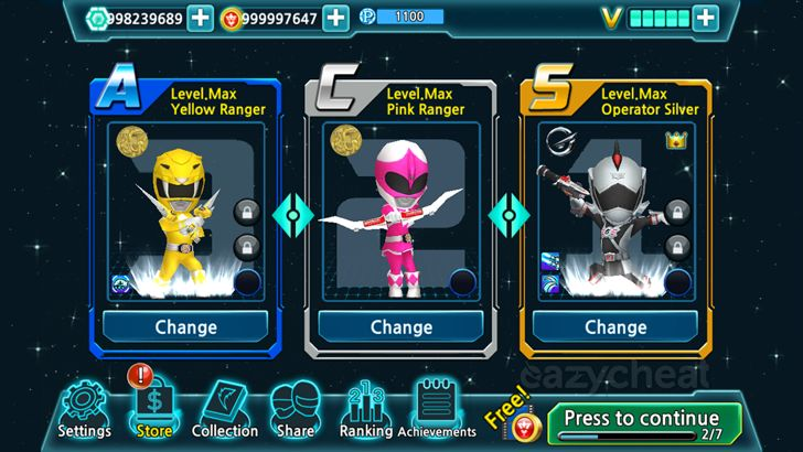 Power Rangers Dash (Asia) Cheats