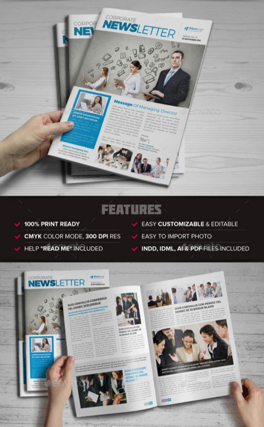 25. Newsletter Indesign Template v6