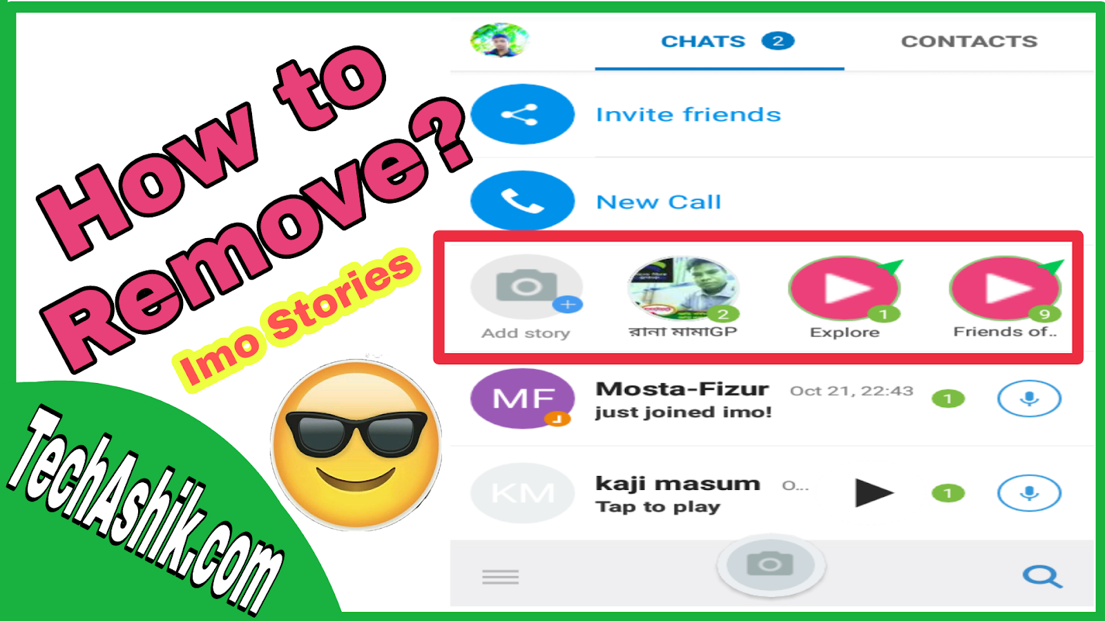 How to Remove/Delete Imo Friends of Friends Stories easily