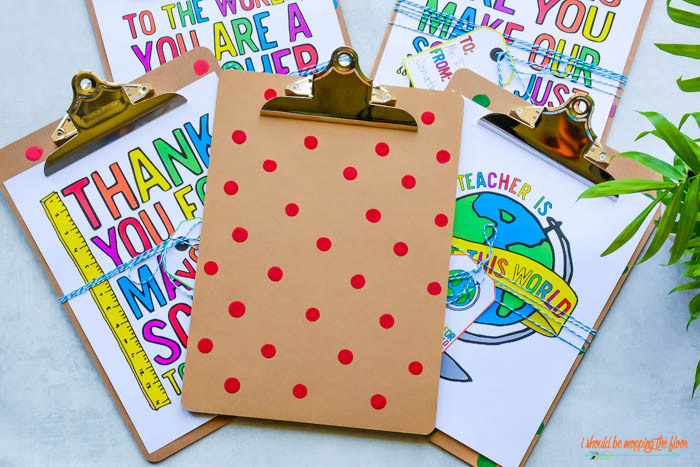 Teacher Appreciation Clipboard Idea