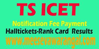 TS ICET 2016 Notification Registration fee