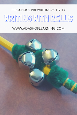 Writing with Bells: Preschool Prewriting and Process Art Activity