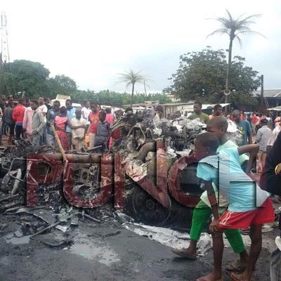 Tanker explosion leaves one dead, vehicles, houses razed