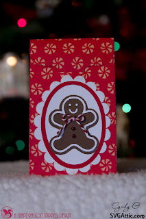 Treat bag with gingerbread man
