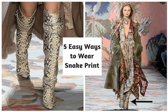 5 Easy Ways to Wear Snake Print
