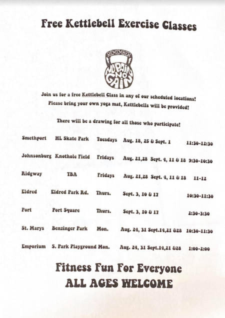 Free kettlebell Exercise Classes
