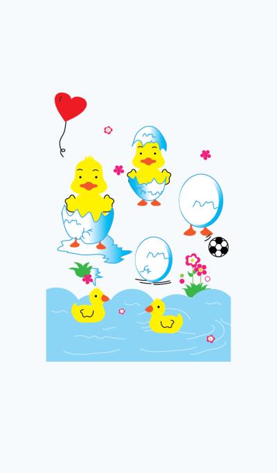Cute the duck theme