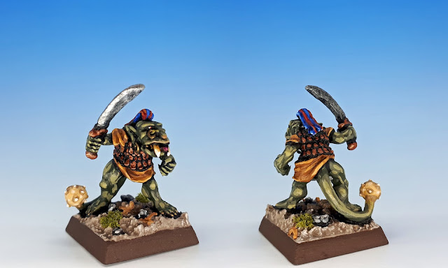 Mace-tail, Citadel C27 Chaos Goblin Mutant, sculpted by the Perry Bros, 1984