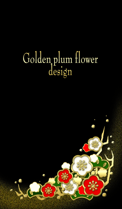 Golden plum flower design