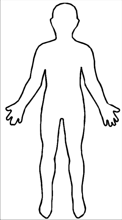 Phrases and or words with the name body: Hot Bod Outline Of A Human Body