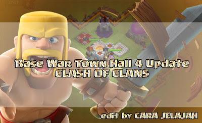 susunan pertahanan base war untuk town hall 4