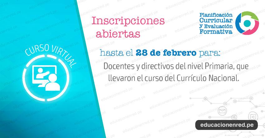 CURRÍCULO NACIONAL: Curso Virtual «Planificación Curricular y Evaluación Formativa» Primera Convocatoria 2019 - www.minedu.gob.pe