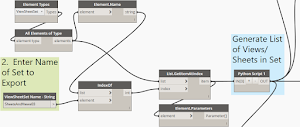 Dynamo:  Export Views and Sheets from Revit - Part 2