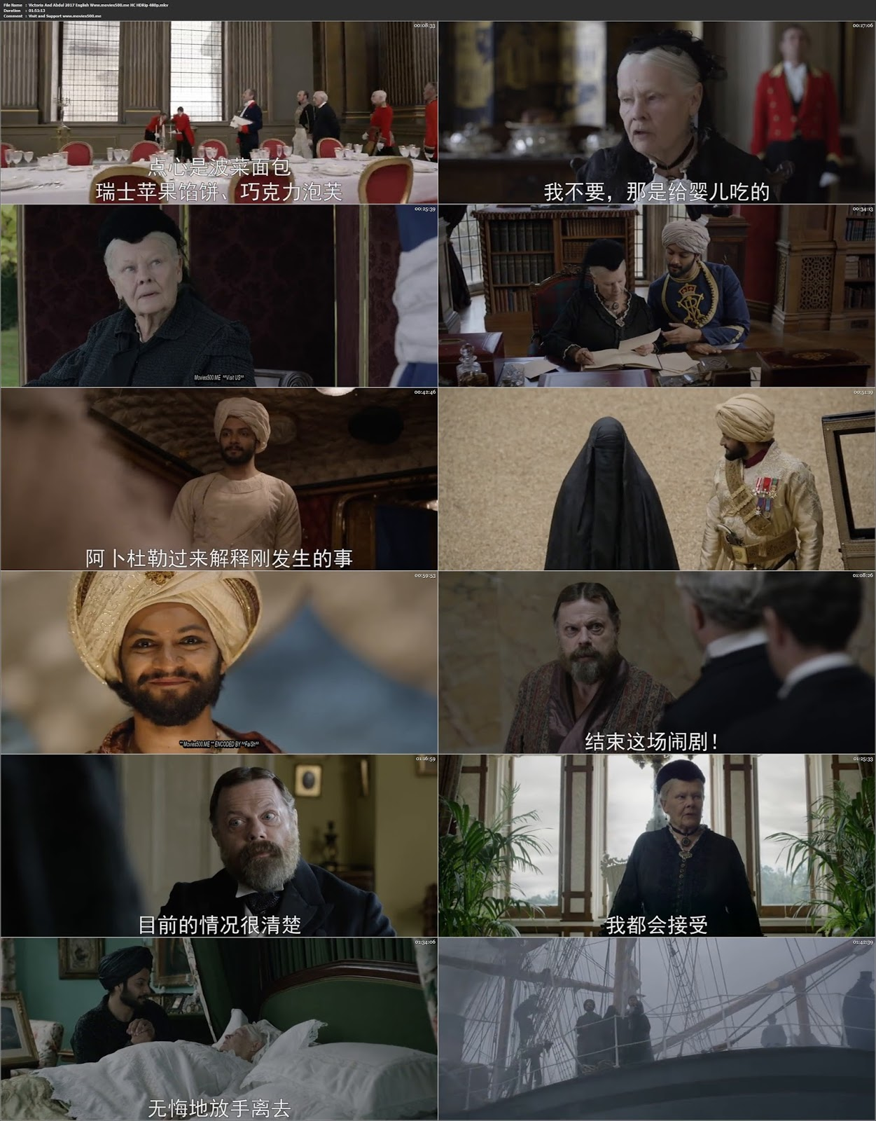 Victoria and Abdul 2017 Hollywood 300MB HDRip 480p at movies500.site