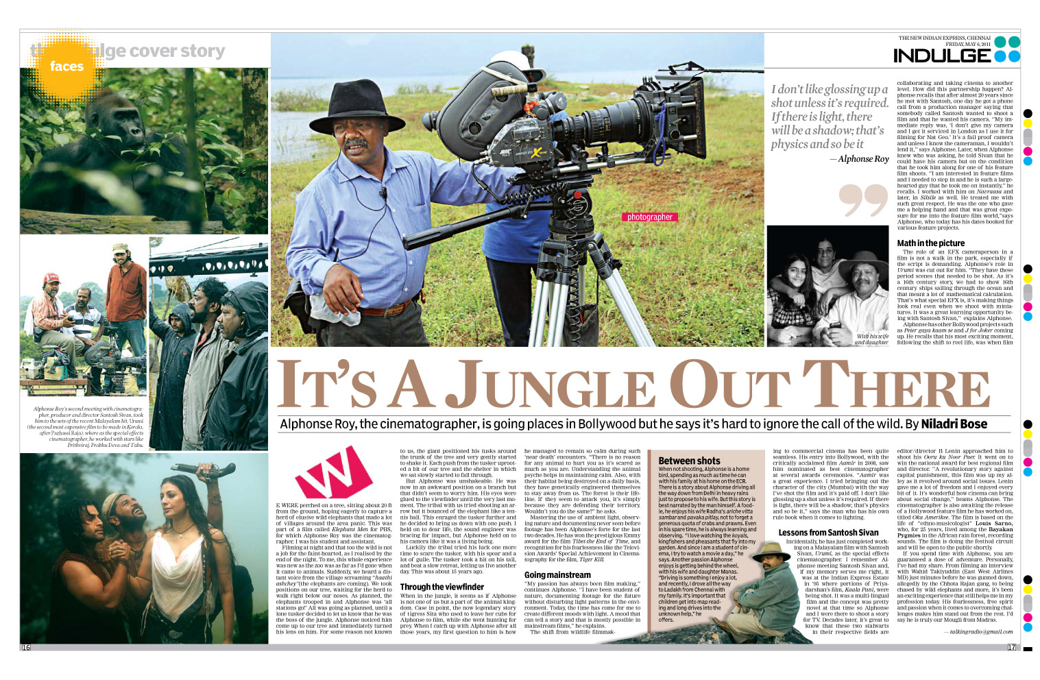 Niladri Bose: The Indian Express Chennai Indulge Cover Story 06/05/2011