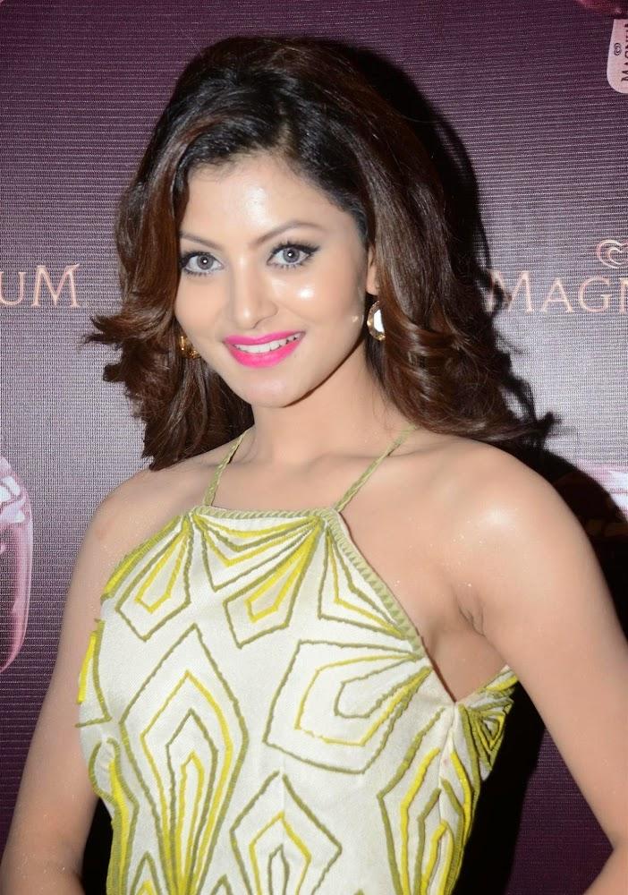 Urvashi Rautela Photos In Short Dress At Magnum Ice Cream