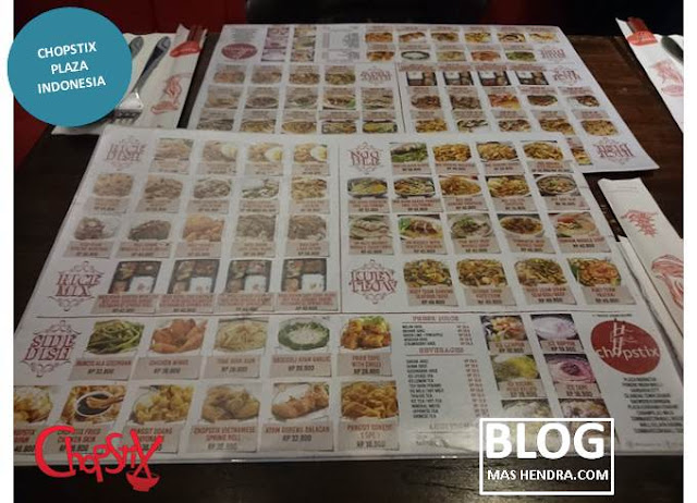 Daftar Menu Chopstix Plaza Indonesia - Blog Mas Hendra