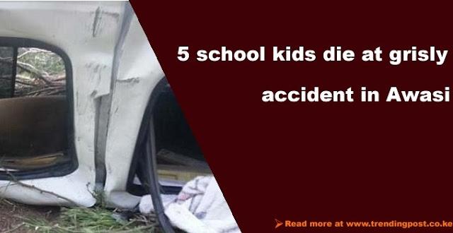 awasi accident leaves five school children dead