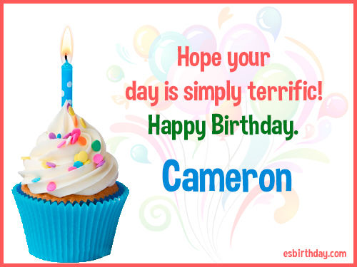 happy birthday cameron Happy Birthday Cameron   Happy Birthday images for Name happy birthday cameron