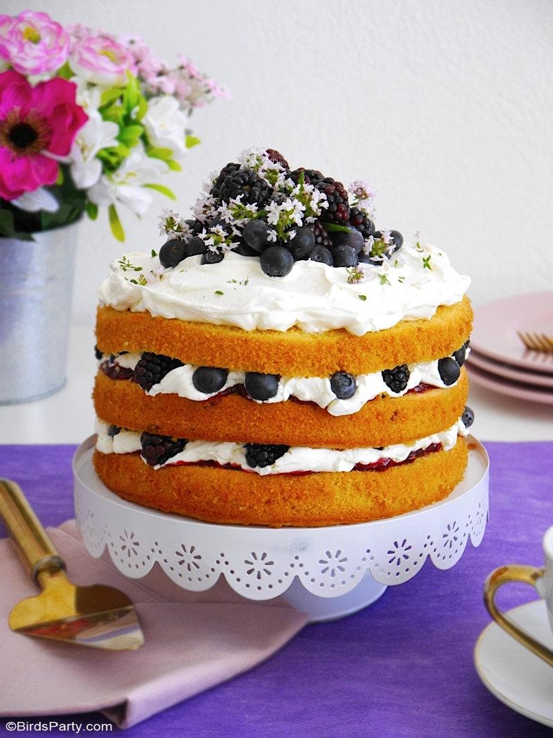 Gâteau au Citron et Baies et Son Glaçage au Mascarpone
