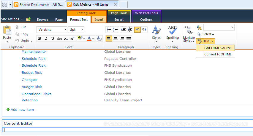 sharepoint 2010 change add new item text