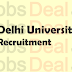 Delhi University Recruitment 2017 DU Associate Professor (552 Posts)