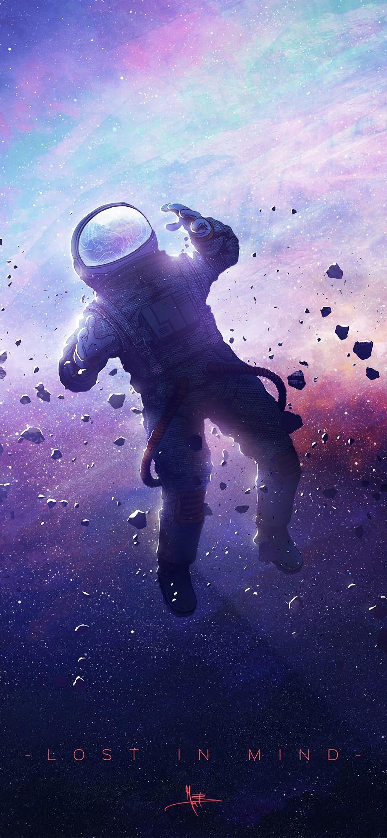 Astronaut Floating Space 21K Wallpaper 21
