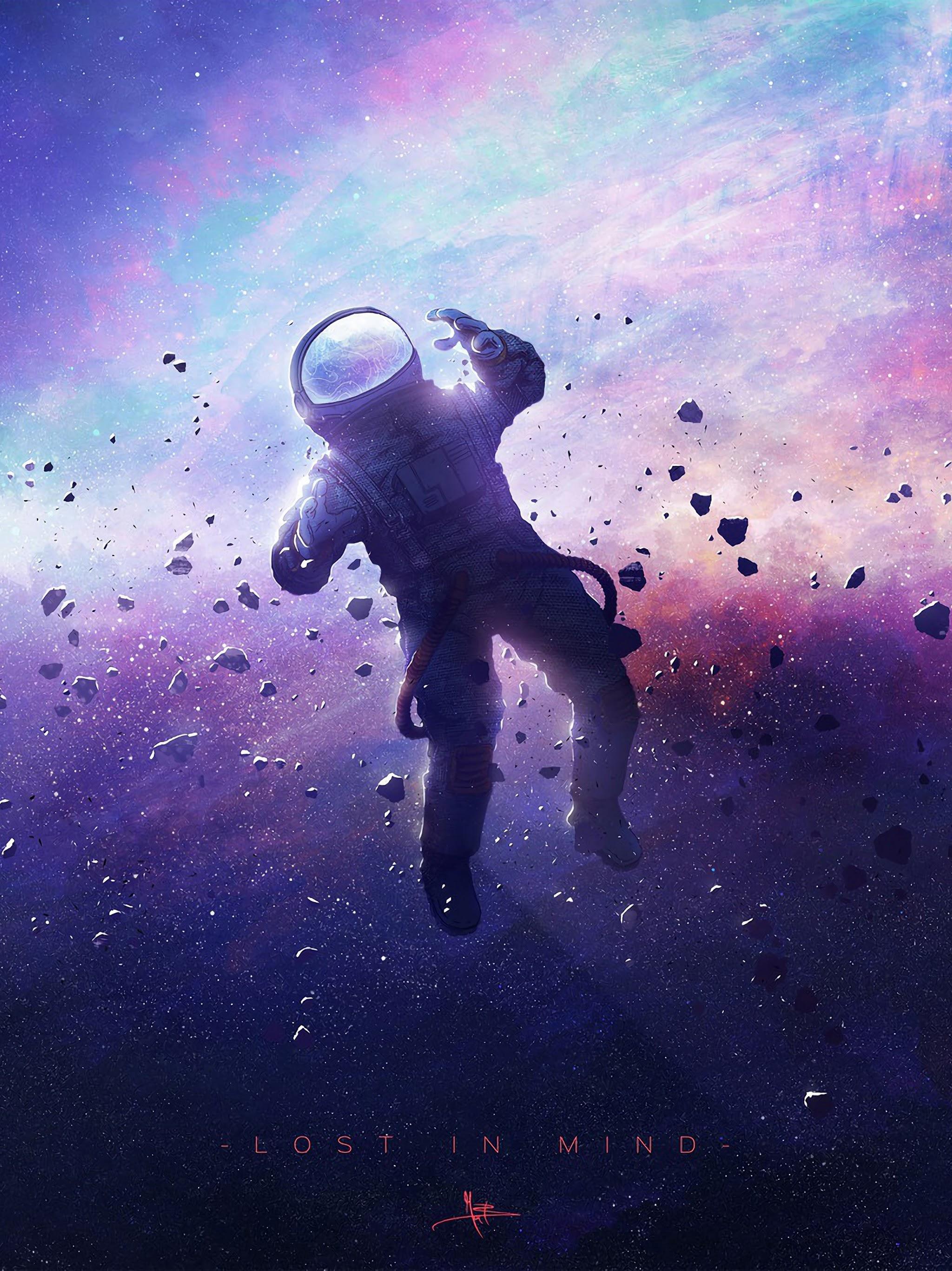 Cartoon Astronaut Wallpaper 4k