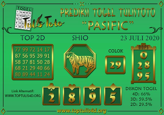 Prediksi Togel PASIFIC TULISTOTO 23 JULI 2020