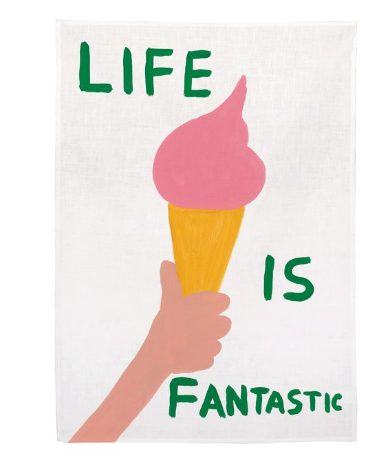 ICE CREAM CONE ART ROUNDUP from Honey and Smoke Studio - Life is Fantastic Tea Towel from Third Drawer Down
