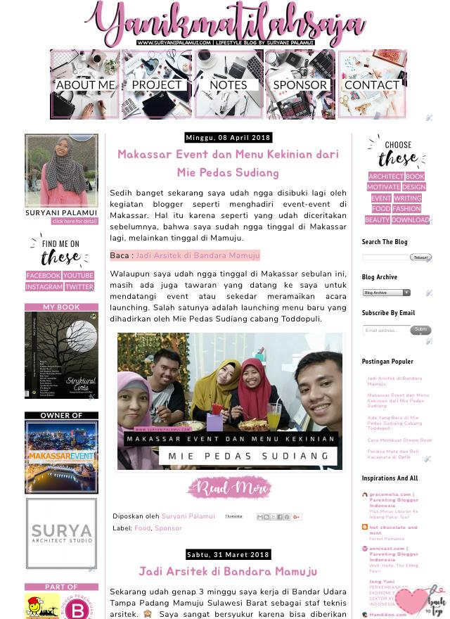 Good Bye Template Blog Lama Yanikmatilah Saja