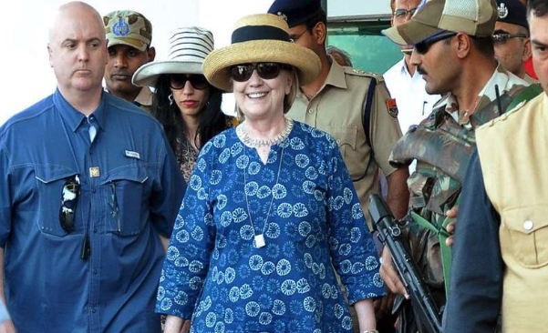 Hillary Clinton suffers hairline fracture in her wrist after bathtub accident in Jodhpur