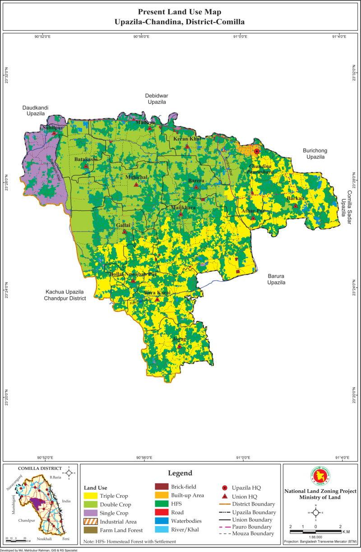 Chandina Upazila Mouza Map Comilla District Bangladesh