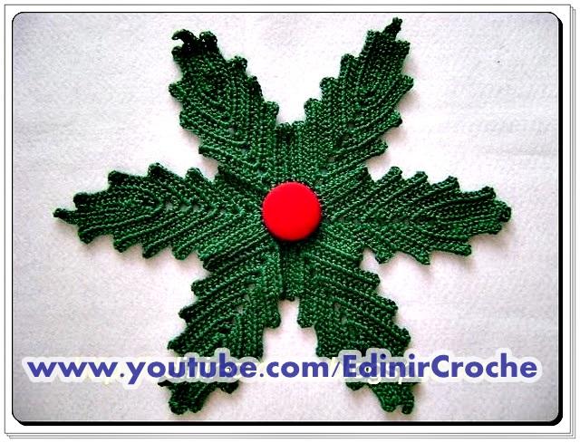 folhas em croche costura invisivel aprender croche como costurar Edinir Croche