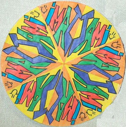 Incredible Art: Radial Names Project