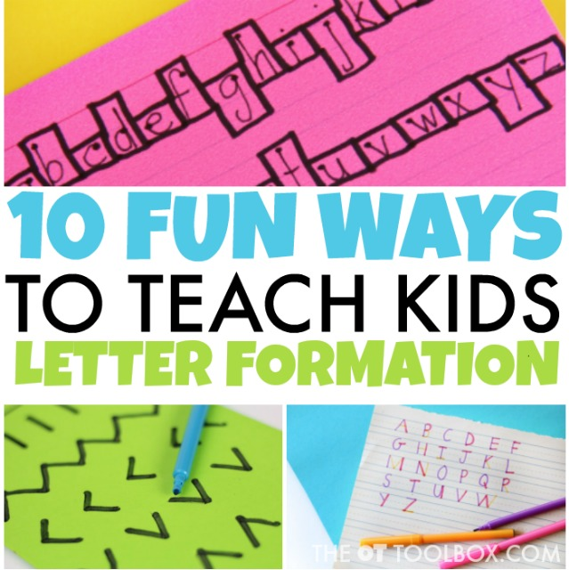 Working on handwriting with kids? These creative handwriting activities can help kids with letter formation and are a tool for anyone trying to teach letter formation in handwriting.