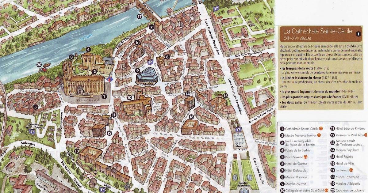 Mapa Turistico De Toulouse.Mi Maleta Y Yo Que Ver Y Hacer En Albi La Ciudad Episcopal