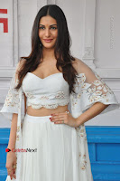 Telugu Actress Amyra Dastur Stills in White Skirt and Blouse at Anandi Indira Production LLP Production no 1 Opening  0023.JPG