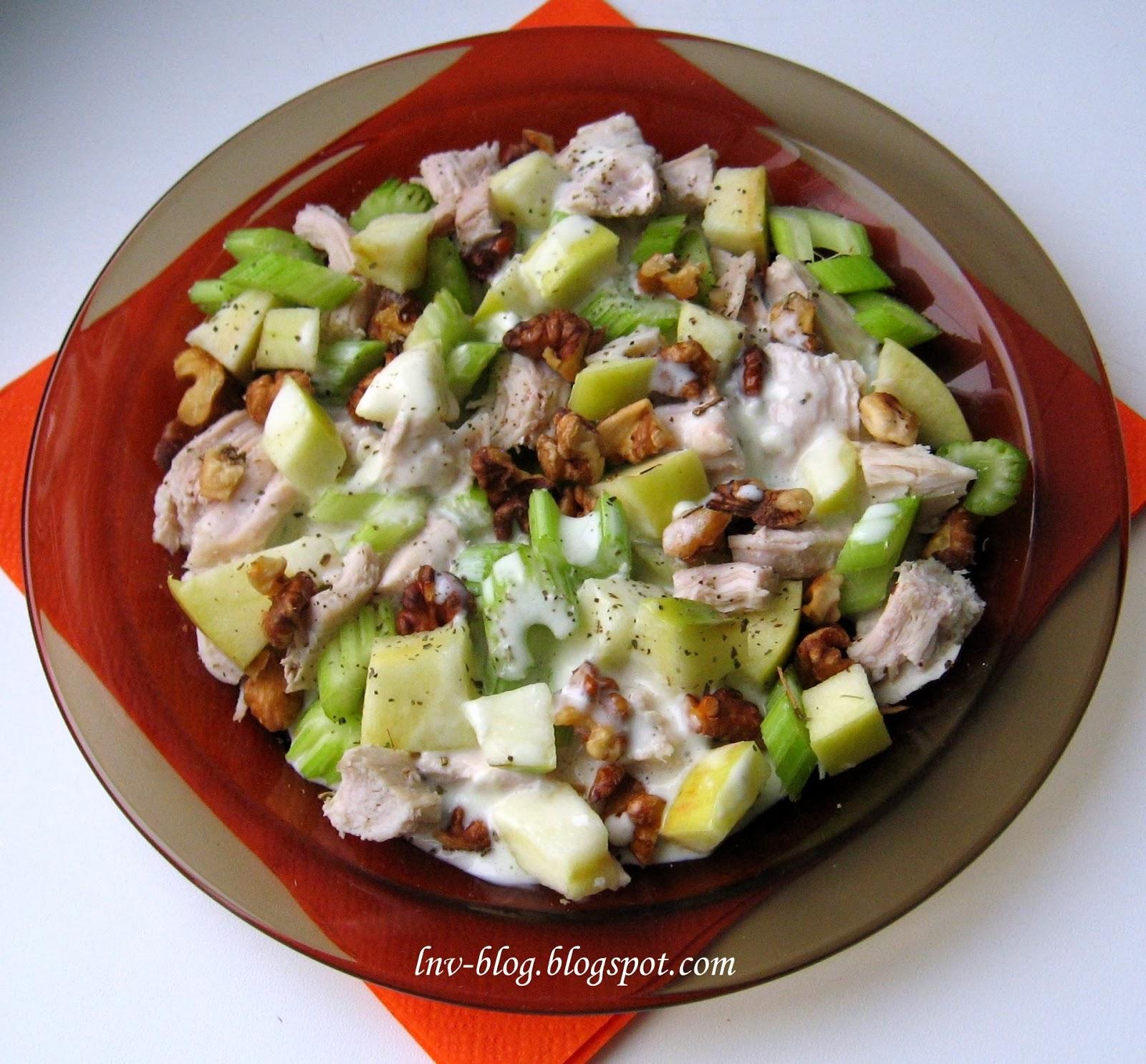 Салат с яблоками и курицей рекомендации