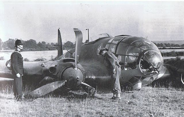 30 August 1940 worldwartwo.filminspector.com Heinkel He 111 bomber crash landed