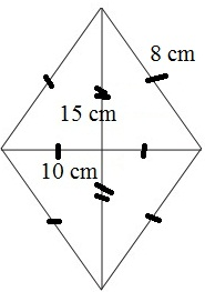 Contoh Soal Luas dan Keliling Belah Ketupat Matematika 6 SD