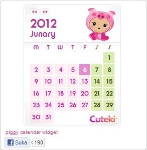 Kalender Lucu Untuk Blogger - Blog Kalender Widget
