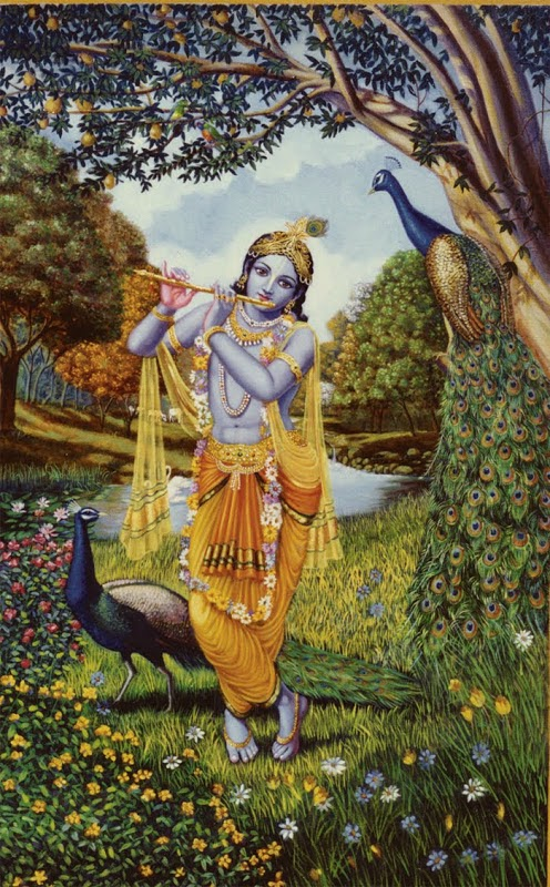 Krishna Paintings By French Artist Dominique Amendola