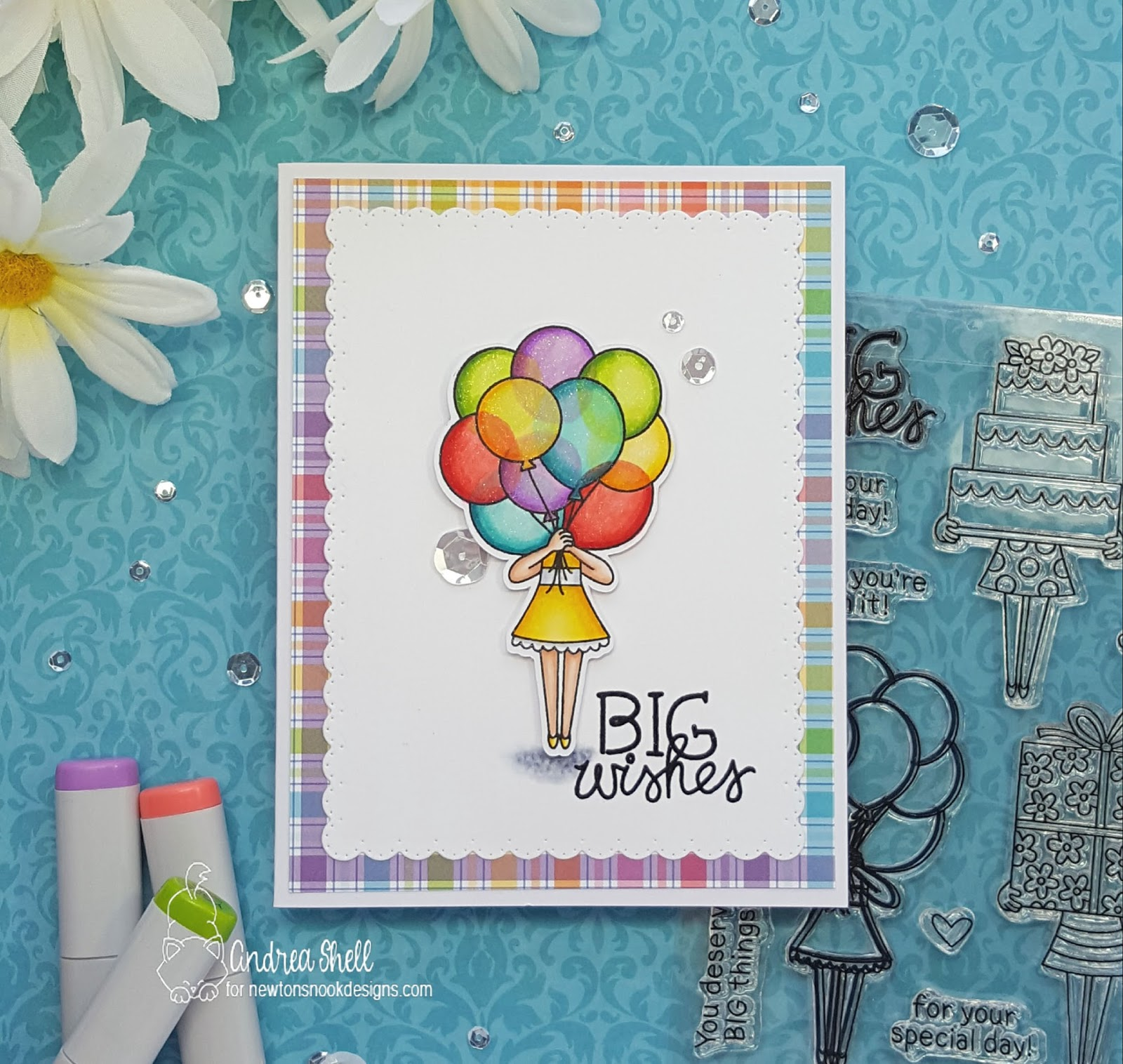 Big Wishes by Andrea features Holding Happiness and Frames & Flags by Newton's Nook Designs; #newtonsnook