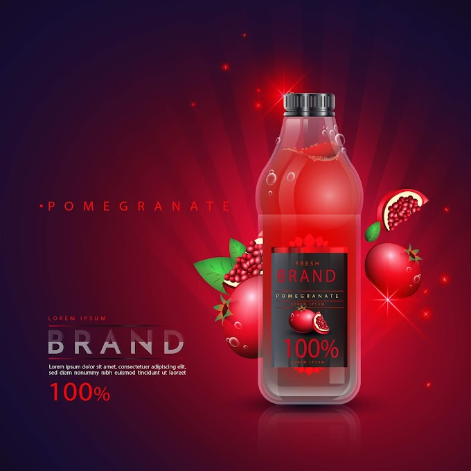 pomegranate juice benefits Pomegranate Juice ads free vector
